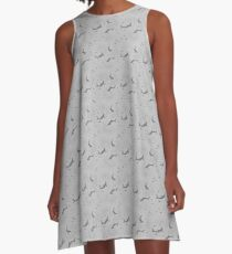 Sharks and fishes - Grey A-Line Dress