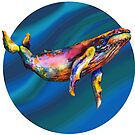 Humpback Bright on Pool of Blue by dotsofpaint