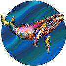 «Humpback Bright on Pool of Blue» de dotsofpaint