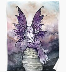 Letting Go Fairy Art with White Butterfly Poster