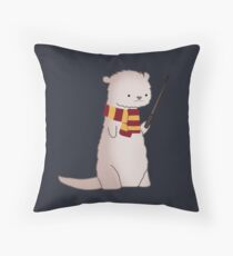 Harry Pawter Otter  Throw Pillow