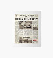 Jaws - Zeitung Vorderseite Galeriedruck