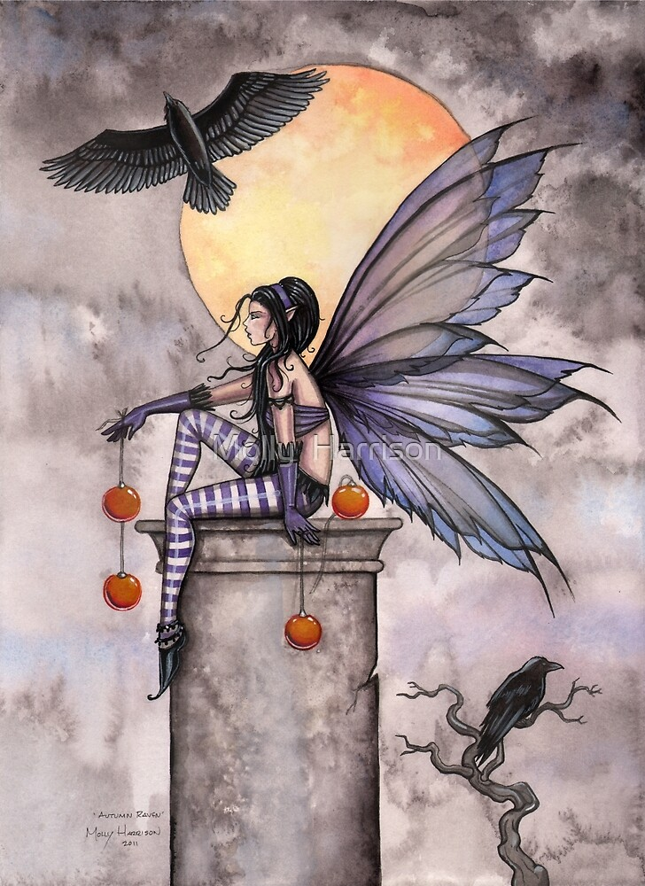 Quot Autumn Raven Fantasy Gothic Fairy And Ravens Quot By Molly