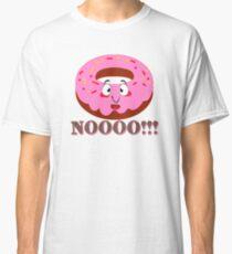 DONUT DOUGHNUT AFRAID DON'T EAT ME NO CUTE FUNNY LAPTOP Classic T-Shirt