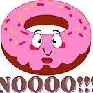 DONUT DOUGHNUT AFRAID DON'T EAT ME NO CUTE FUNNY LAPTOP by MyHandmadeSigns