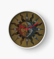 Vintage Celestial mosaic Sun & Moon Uhr