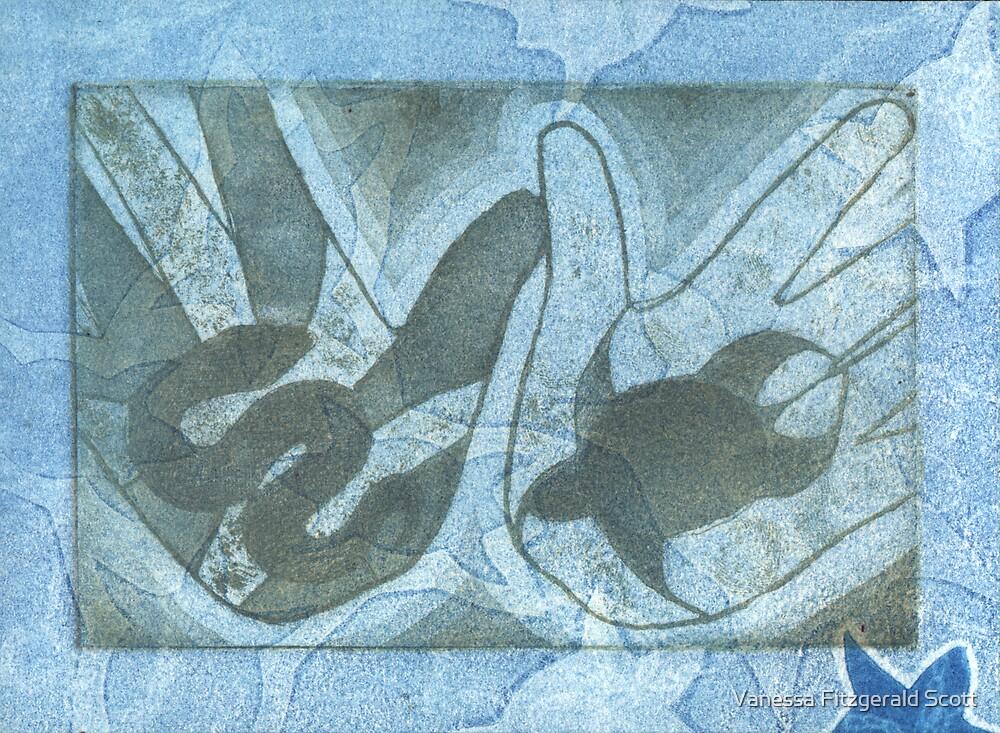 ngoonjbear & binging (snake & turtle) #5 by Ness Fitzgerald