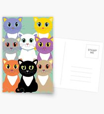 Only Eight Cats Postcards