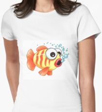 bug eyed fishy Women's Fitted T-Shirt