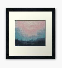 Cyan Sky Framed Print
