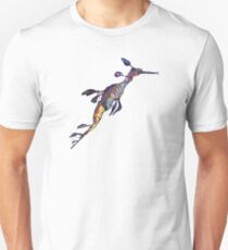 Purple Sea Dragon Unisex T-Shirt