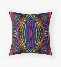 Rainbow Diamond X Throw Pillow