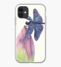 Dragonfly & Lotus iPhone Case