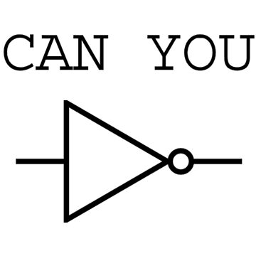 Can You NOT Logic Gate (black design) by felix-onice