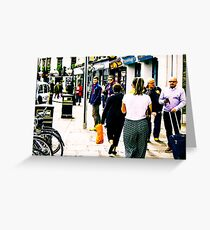 Greenwich Bustle Greeting Card