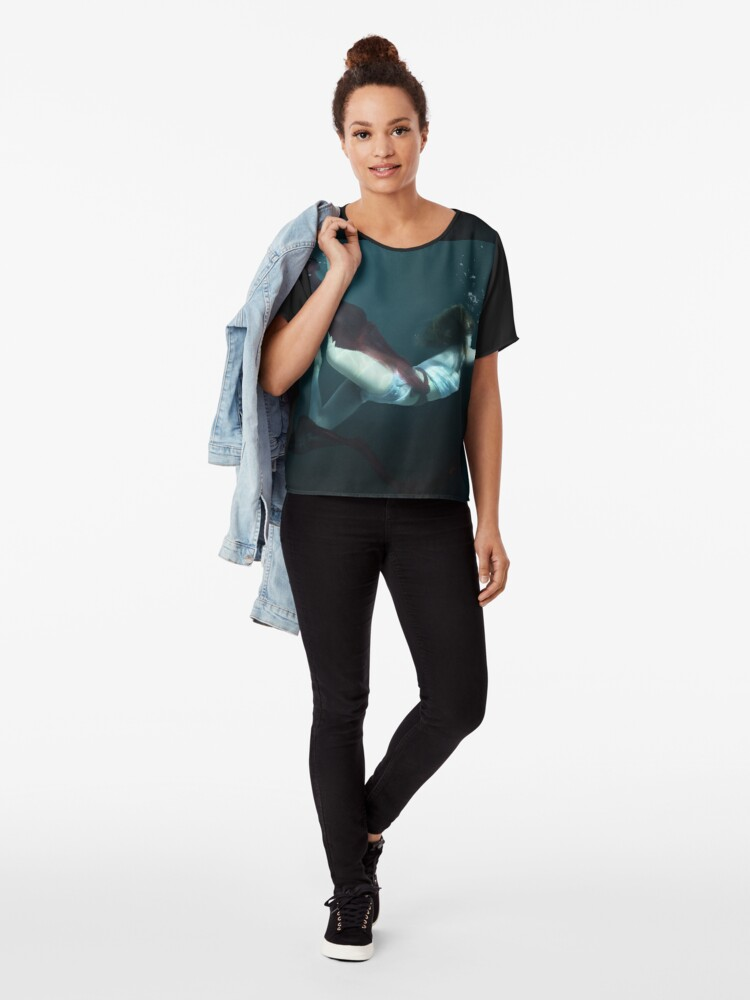 Alternate view of Concrete Cell Chiffon Top