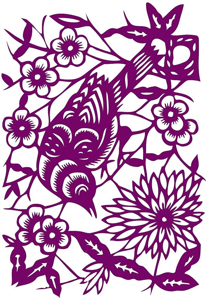 Bird Sketch - Purple by birdsbirds