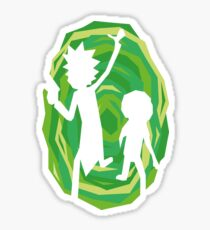 Rick and Morty - Portal - Black Sticker