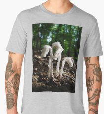 Indian Pipes In The Forest Men's Premium T-Shirt