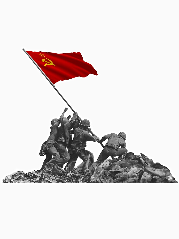 Soldiers Raising USSR Communist Flag at Iwo Jima by tpz757