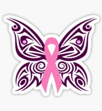 Breast Cancer Awareness Butterfly Sticker
