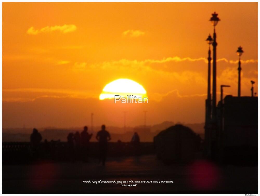 Glorious Orange Sunset by Pallitan