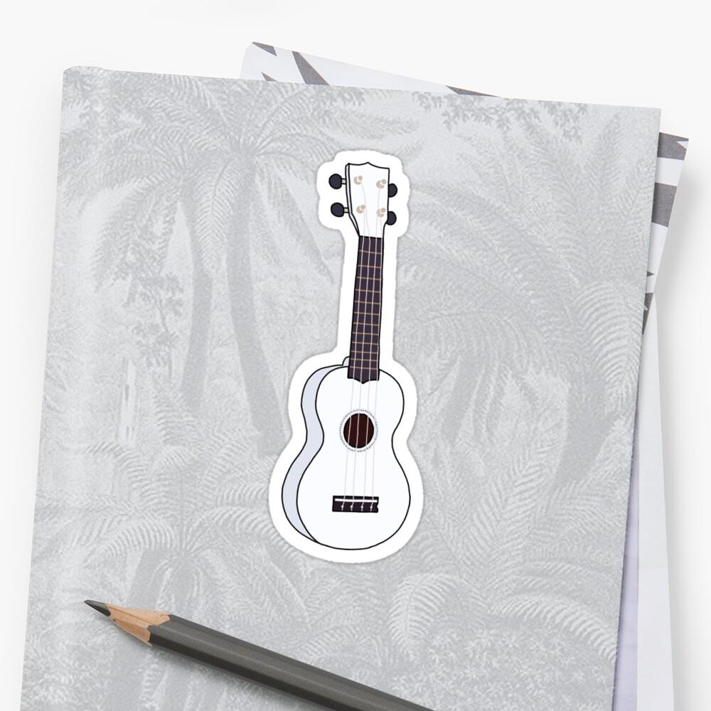 White ukulele by emmmaf
