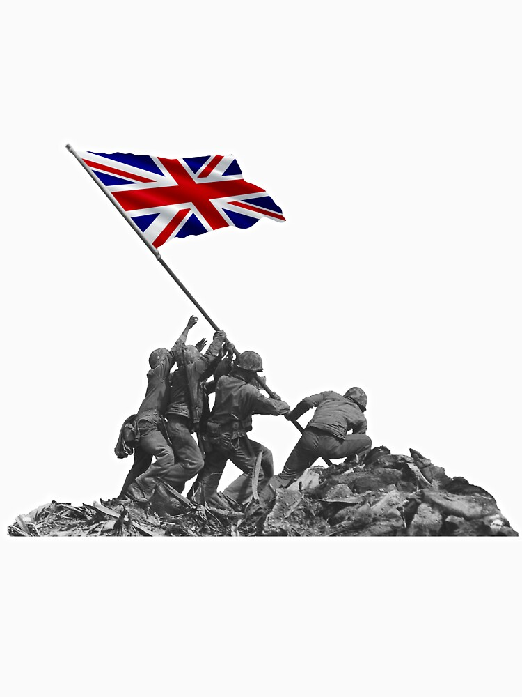 Soldiers Raising UK Flag at Iwo Jima by tpz757