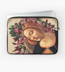 She Wore a Crown of Amaryllis Laptop Sleeve