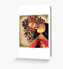 She Wore a Crown of Amaryllis Greeting Card