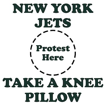 Jets Take A Knee Pillow by Powbamboom