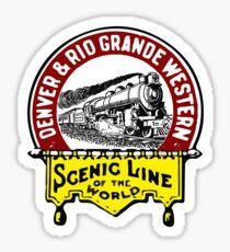 Denver And Rio Grande Western Railroad Vintage Trains Colorado Train Sticker