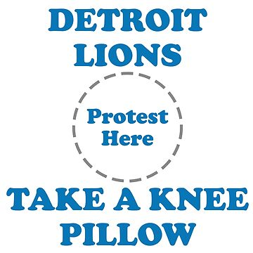 Lions Take A Knee Pillow by Powbamboom