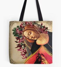 She Wore a Crown of Amaryllis Tote Bag