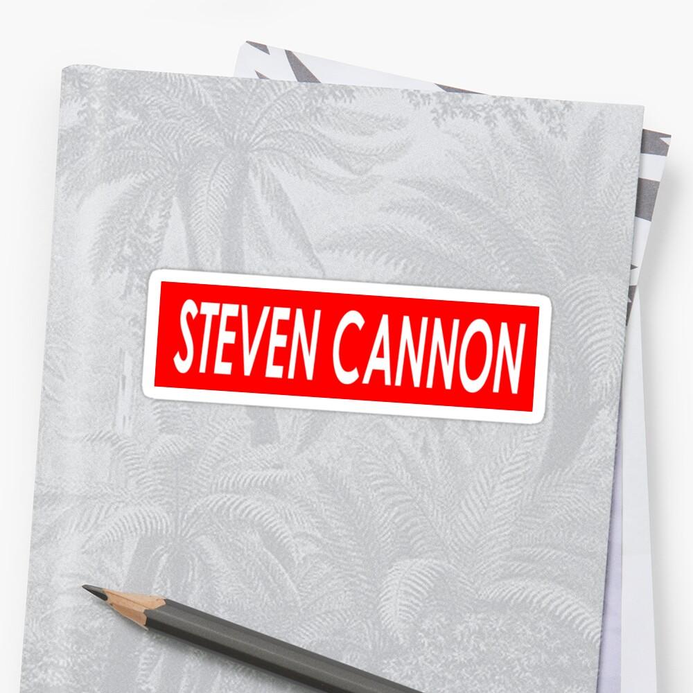 STEVEN CANNON Sticker