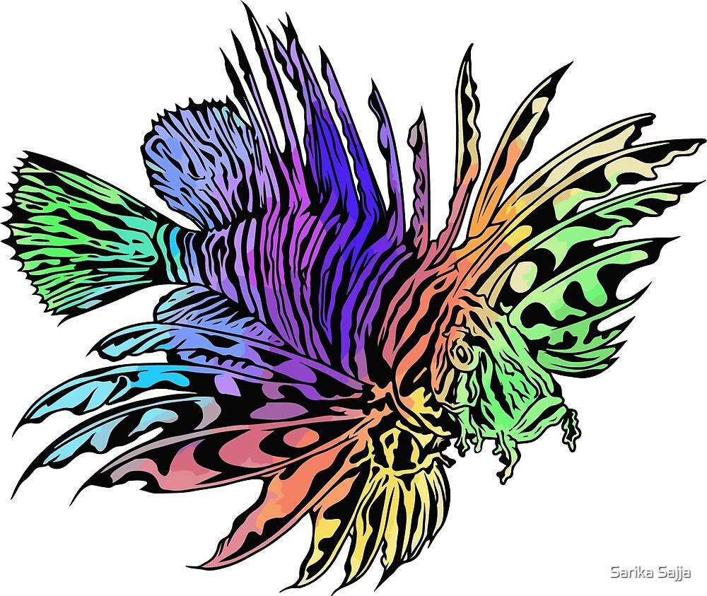 Lionfish's Rainbow by Sarika Sajja