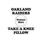 Raiders Take A Knee Pillow by Powbamboom