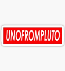 UNOFROMPLUTO Sticker
