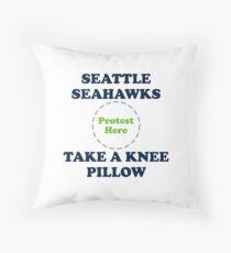 Seahawks Take A Knee Pillow Throw Pillow
