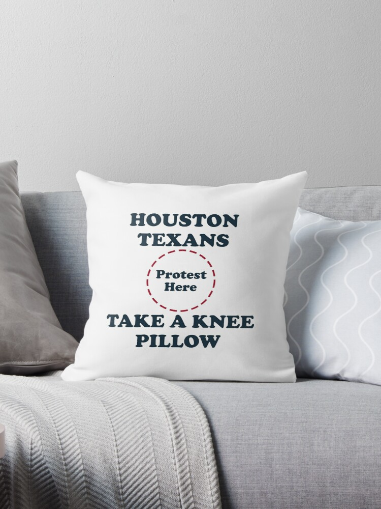 Texans Take A Knee Pillow by Powbamboom