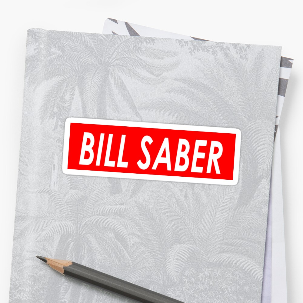 BILL SABER Sticker Front