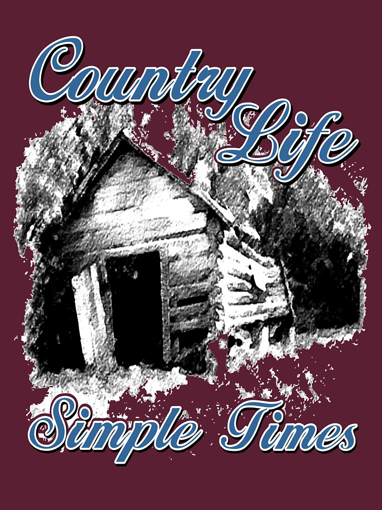 Country Life Simple Times T-Shirt by RDGGlobal
