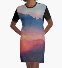 Landscape Graphic T-Shirt Dress