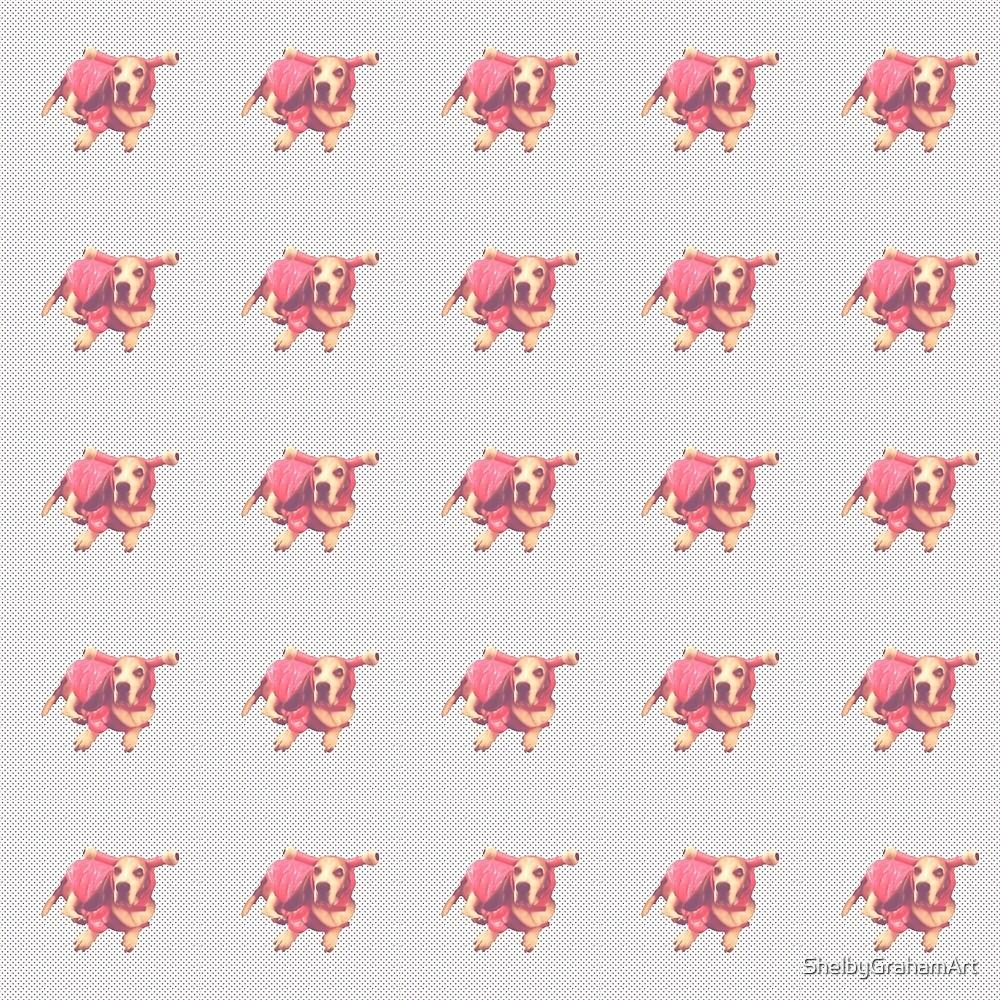 Lobster Dog Pattern by ShelbyGrahamArt