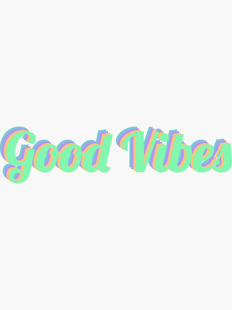 Good Vibes Sticker by rachelribz