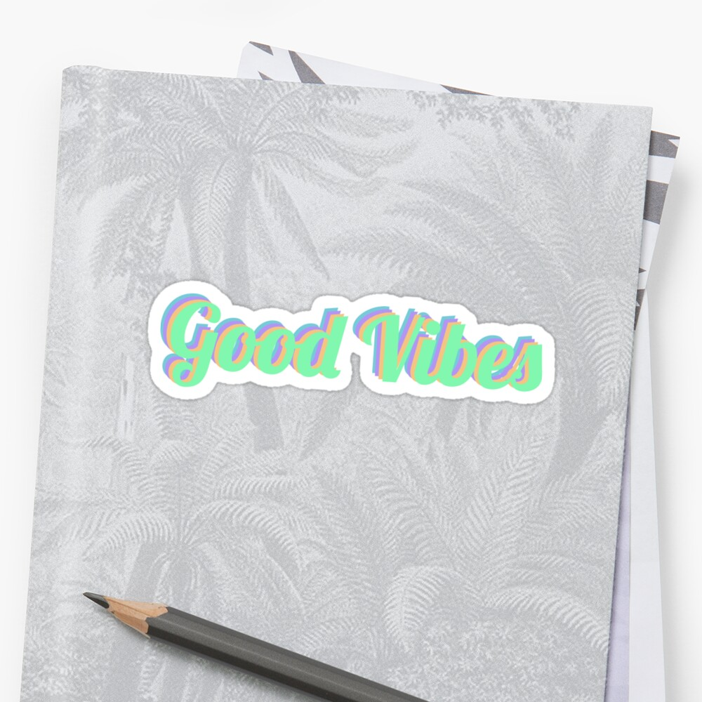 Good Vibes Sticker Sticker Front