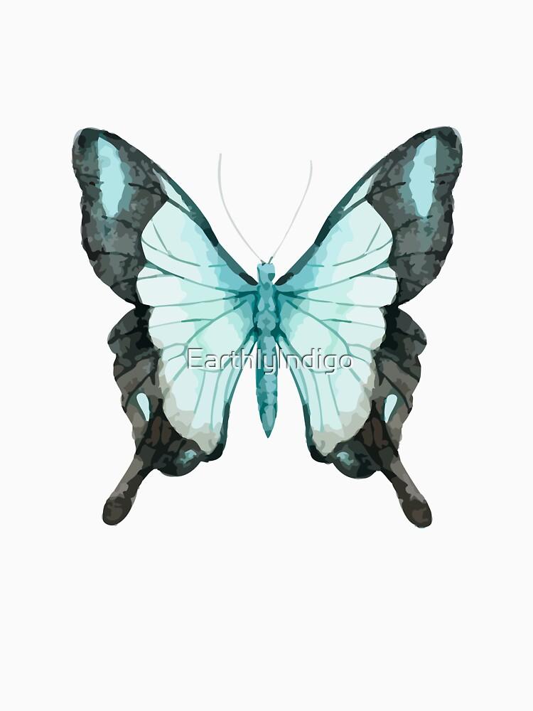 Blue Butterfly Art, Blue Morpho Butterfly, Butterfly Lover  by EarthlyIndigo
