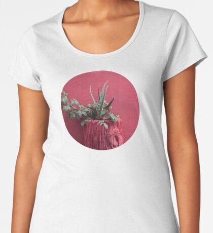 Rosa und Pflanze Frauen Premium T-Shirts