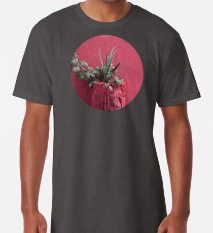 Rosa und Pflanze Longshirt