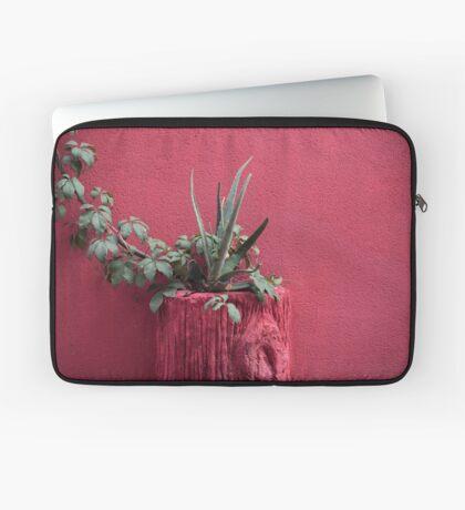 Rosa und Pflanze Laptoptasche